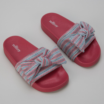 Little Missy Slides with Bow Detail