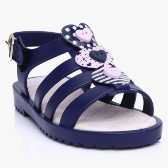 World Colors Multi Strap Sandals with Buckle Closure