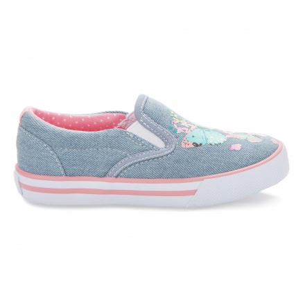 Juniors Printed Canvas Slip-ons