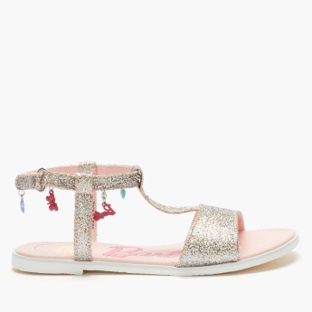 Barbie Glitter Sandals with Hook and Loop Closure