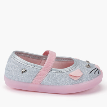Pampili Glitter Detail Shoes with Elasticised Strap