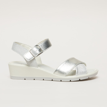 IMAC Textured Sandals with Crossed Straps