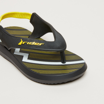 Rider Striped Sling Back Flip Flops