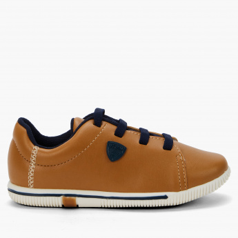 Klin Lace-Up Sneakers with Applique Detail