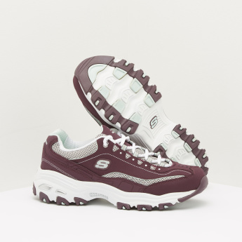 Skechers Dual-Tone Sneakers with Lace-Up Closure