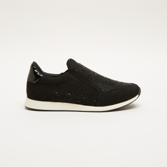 Studded Slip-On Sneakers with Elasticised Gussets
