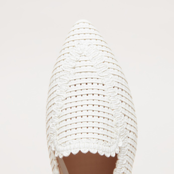 ELLE Slingback Weave Detail Shoes
