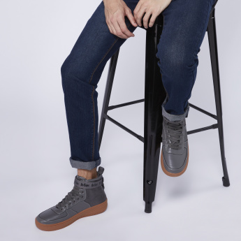 Lee Cooper High Top Lace-Up Shoes with Tape Detail