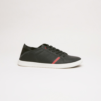 Lee Cooper Lace-Up Sneakers with Back Panel