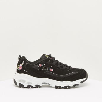 Skechers Printed Walking Shoes with Elasticated Laces