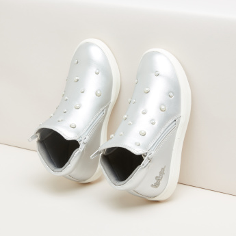e6154ad70c94 Lee Cooper High Top Shoes with Pearl Detail