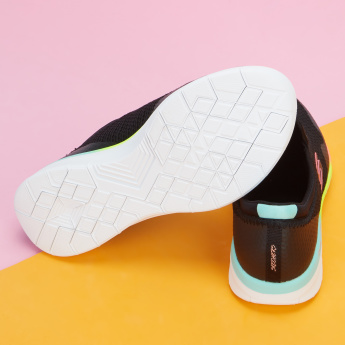 Skechers Textured Slip-On Sneakers with Elasticised Band