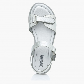 Juniors Slip-On Sandals with Hook and Loop Closure