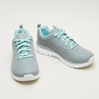Skechers Textured Lace-Up Running Shoes