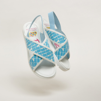 Barbie Printed Sandals with Elasticised Backstraps