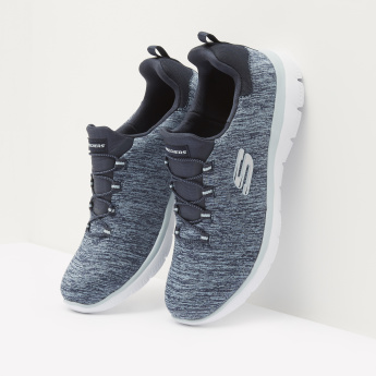 Skechers Textured Walking Shoes with Elasticated Laces