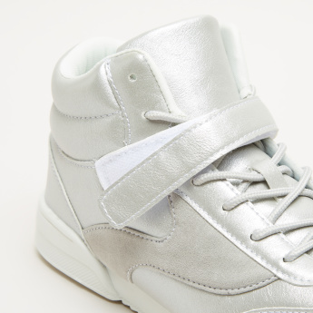 High Top Shoes with Hoop and Loop