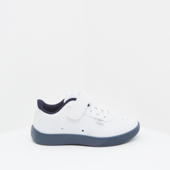 KLIN Perforated Detail Sneakers with Hook and Loop Closure