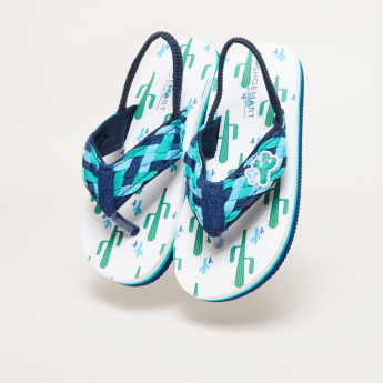 Printed Flip Flops with Elasticised Backstrap