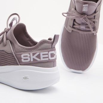 Skechers Walking Shoes with Lace-Up Closure and Perforation Detail