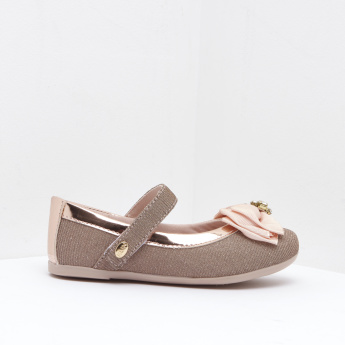 Klin Mary Jane Shoes with Bow Accent and Embellished Detail