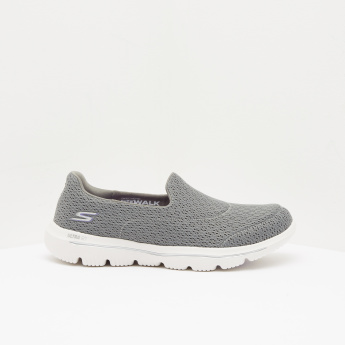 Skechers Textured Walking Shoes with Slip-On Closure