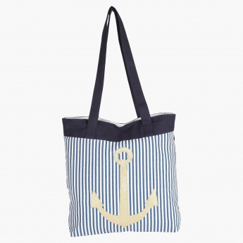 Paprika Striped Tote Bag