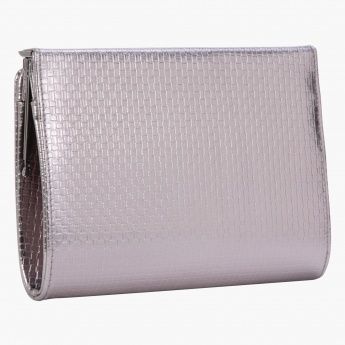 Celeste Solid Colour Clutch