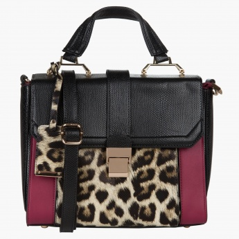 Elle Animal Print Satchel Bag  21664728c8ccf