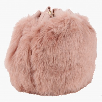 Missy Plush Bucket Bag