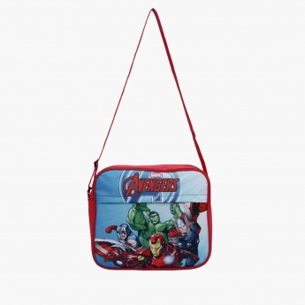 Avenger Printed Crossbody Bag with Zip Closure