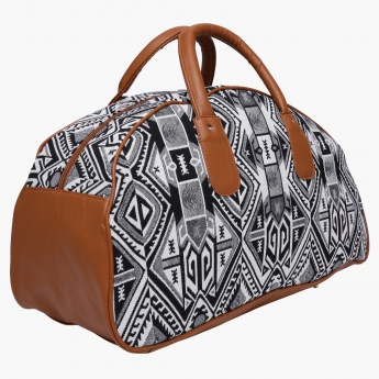 cab0aa8f0c47 Paprika Printed Duffle Bag with Zip Closure