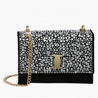 Celeste Studded Hand Bag with Sling