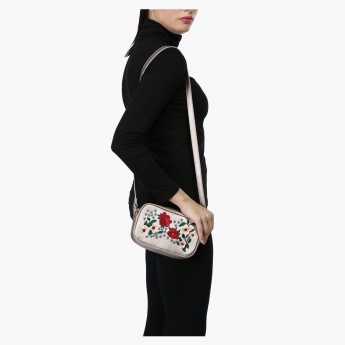 Elle Embroidered Crossbody Bag
