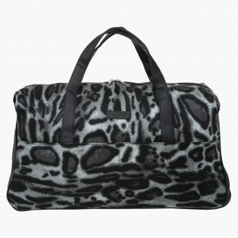 Sale. Paprika Leopard Print Dual Handle Trolley Duffel Bag 86c6d9a2b1304
