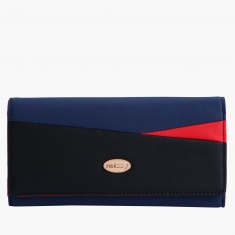 Missy Wallet with Metallic Snap Closure