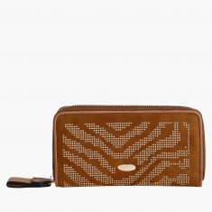 Elle Studded Wallet with Zip Closure