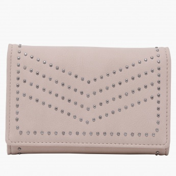Paprika Beaded Wallet with Flap Closure
