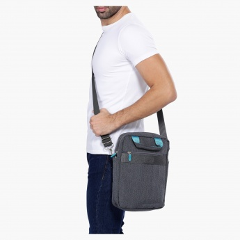 Duchini Messenger Bag with Long Strap and Dual Handles
