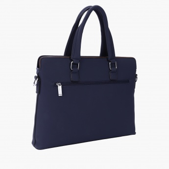 Duchini Portfolio Bag with Zip Closure