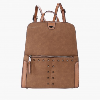 Elle Studded Backpack with Zip Closure