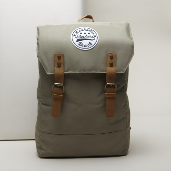 Skechers Badge Detail Backpack with Pin Buckle Closure