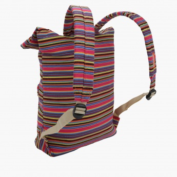 Skechers Striped Backpack with Flap