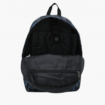 Skechers Printed Backpack with Dual Shoulder Straps
