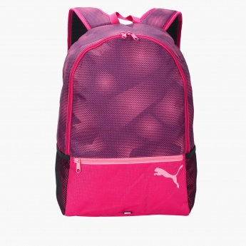 e6305e0fa865 Puma Printed Backpack with Zip Closure
