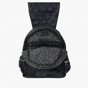 Missy Printed Backpack with Zip Closure