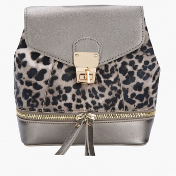 Missy Printed Crossbody with Lock Closure