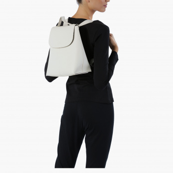 Elle Backpack with Flap and Magnetic Snap Closure