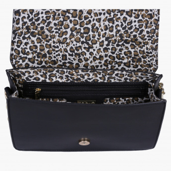 Marla London Embellished Satchel Bag with Magnetic Snap Closure