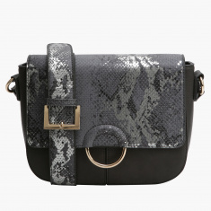 Elle Textured Hand Bag with Magnetic Snap Closure